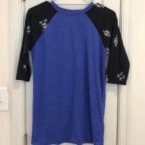 LulaRoe Sloan 14 Royal blue & black